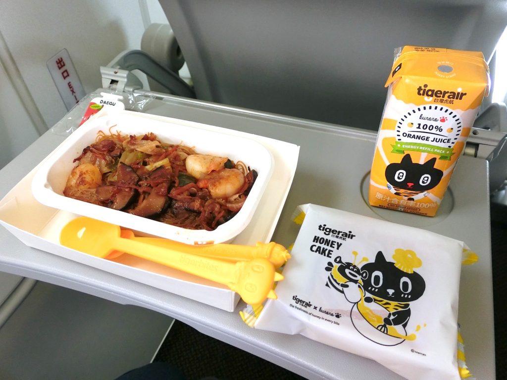 タイガーエア台湾のかわいい機内食