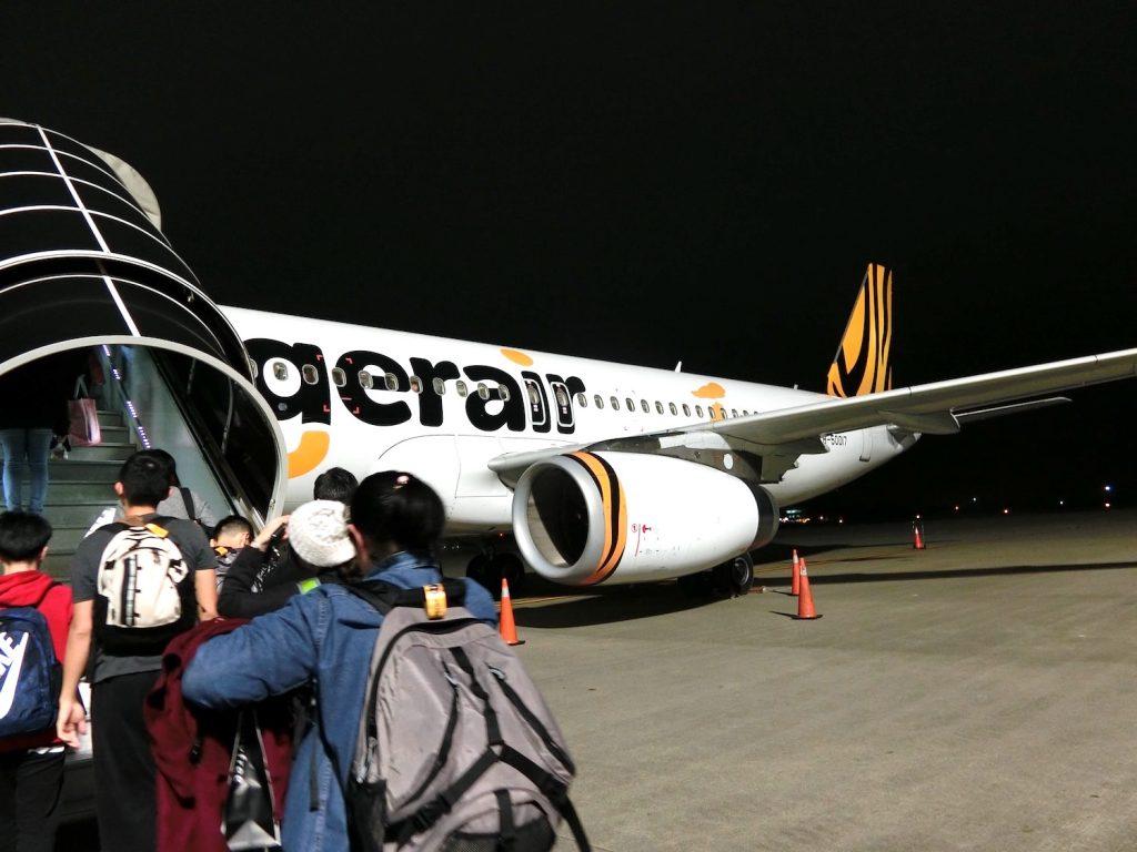 タイガーエア台湾の復路