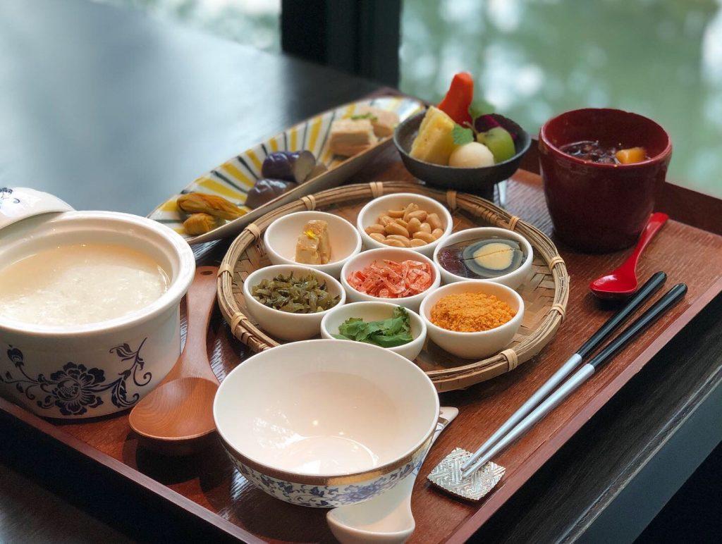 星のやグーグァン(台湾・谷關)台湾式の朝食