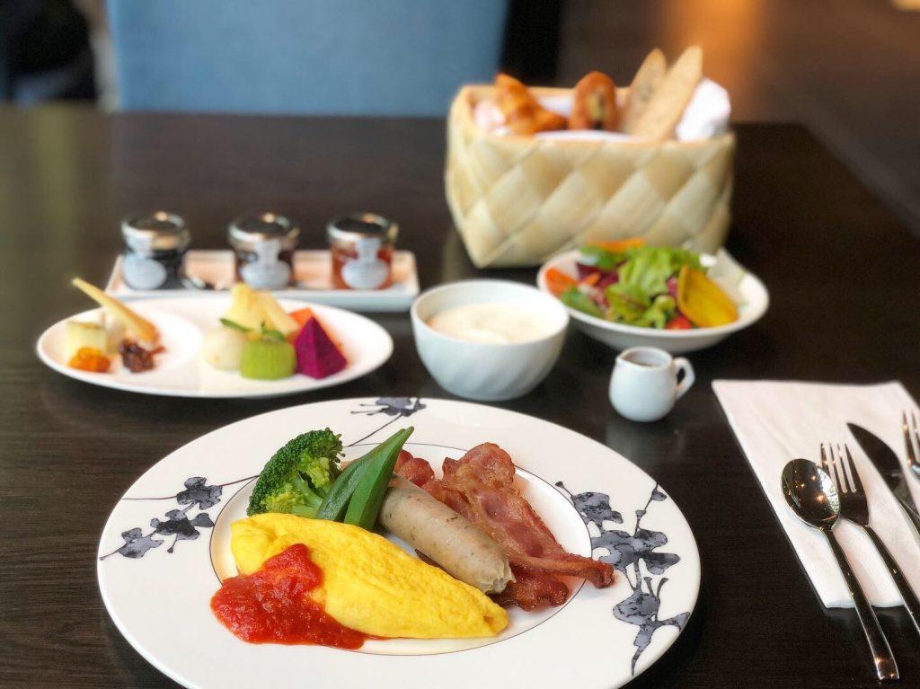 星のやグーグァン(台湾・谷關)アメリカ式の朝食