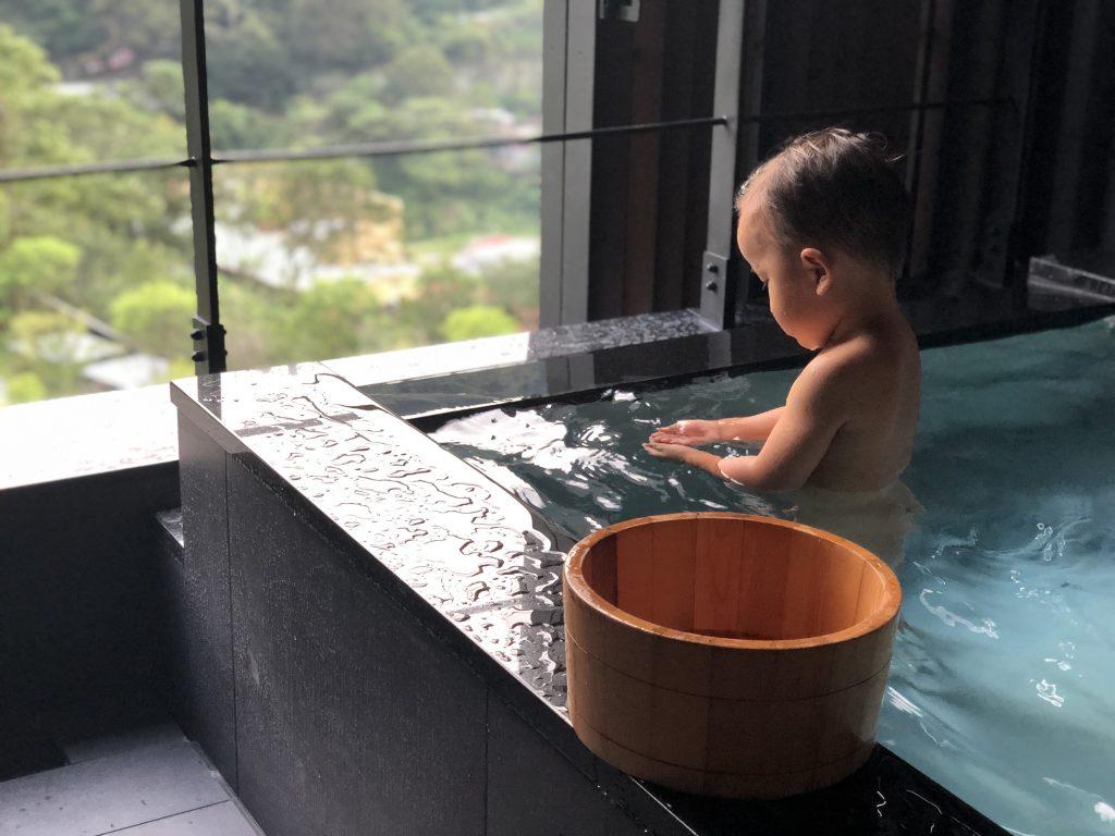 星のやグーグァン(台湾・谷關)温泉の様子