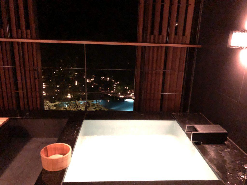 星のやグーグァン(台湾・谷關)夜の温泉